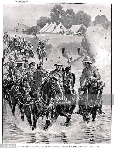 Boer War Gunners under fire