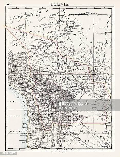 Bolivia map 1897