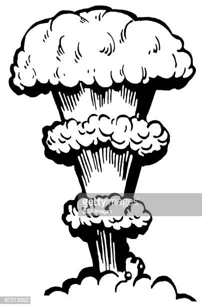 bomb - radioactive contamination stock illustrations
