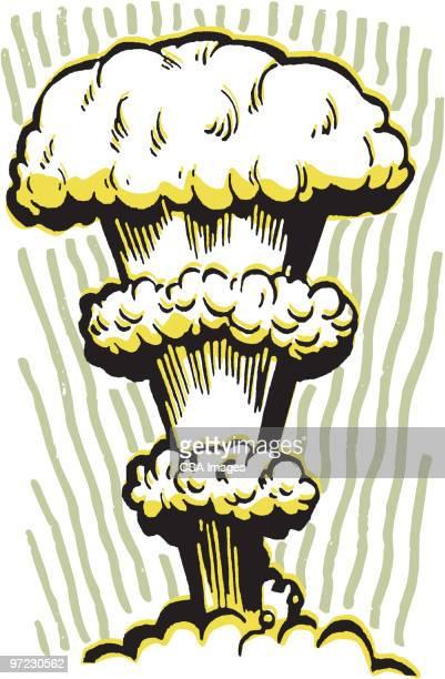ilustraciones, imágenes clip art, dibujos animados e iconos de stock de bomb - bomba nuclear