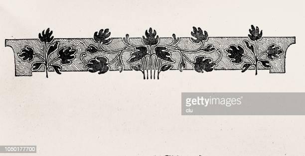 book decoration - vignette on white background - antique stock illustrations, clip art, cartoons, & icons