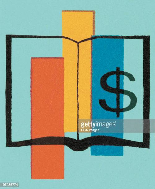 book of money - accounting ledger stock illustrations, clip art, cartoons, & icons