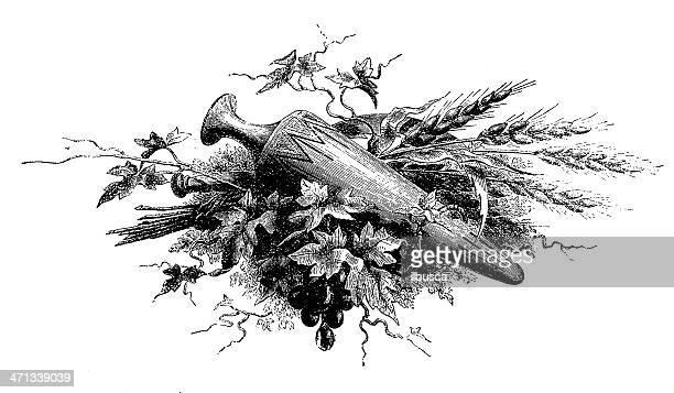 book ornament (amphora) - decorative urn stock illustrations