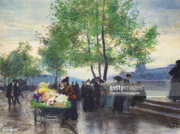 Book sellers on the banks of the Seine, Paris, France