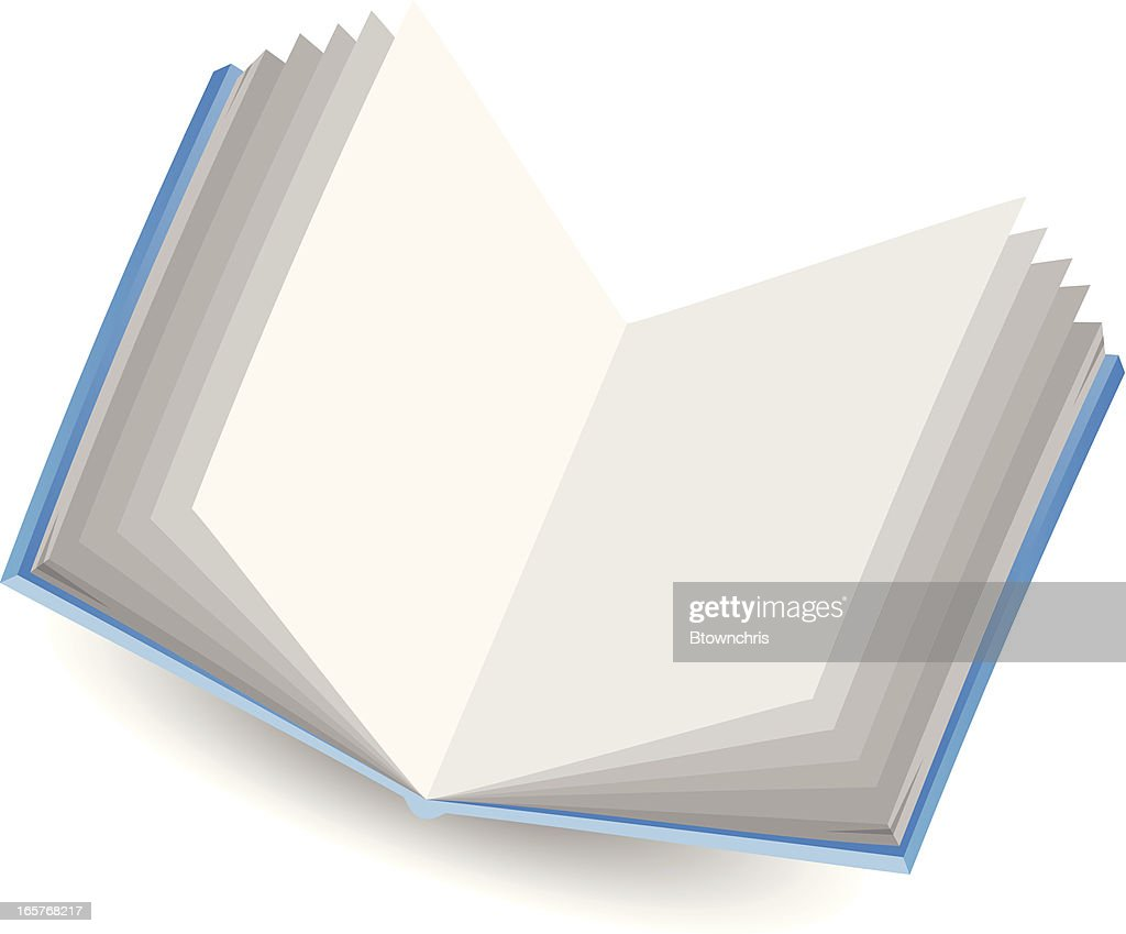 Book with blank pages : Vector Art