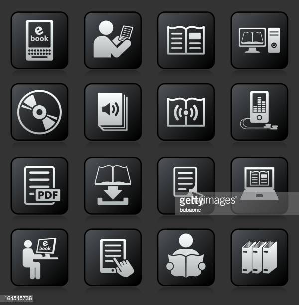 books and modern reading royalty free vector icon set