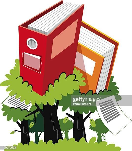 ilustrações de stock, clip art, desenhos animados e ícones de books growing from trees - buchinho