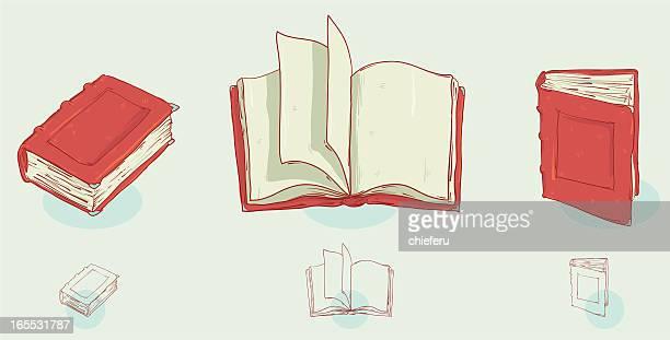 ilustraciones, imágenes clip art, dibujos animados e iconos de stock de libros - turning