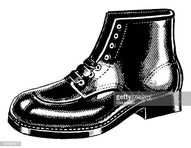 illustrations, cliparts, dessins animés et icônes de boot - bottes en cuir