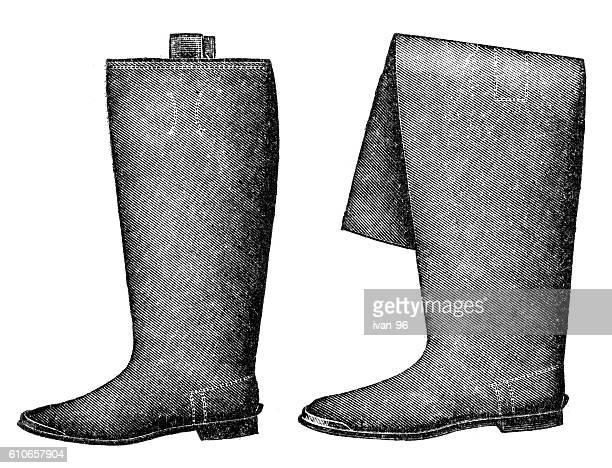 illustrations, cliparts, dessins animés et icônes de la chaussure  - bottes en cuir