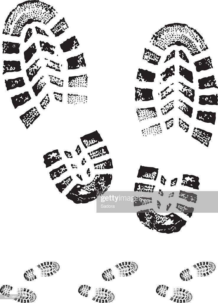 boot print : Stock Illustration