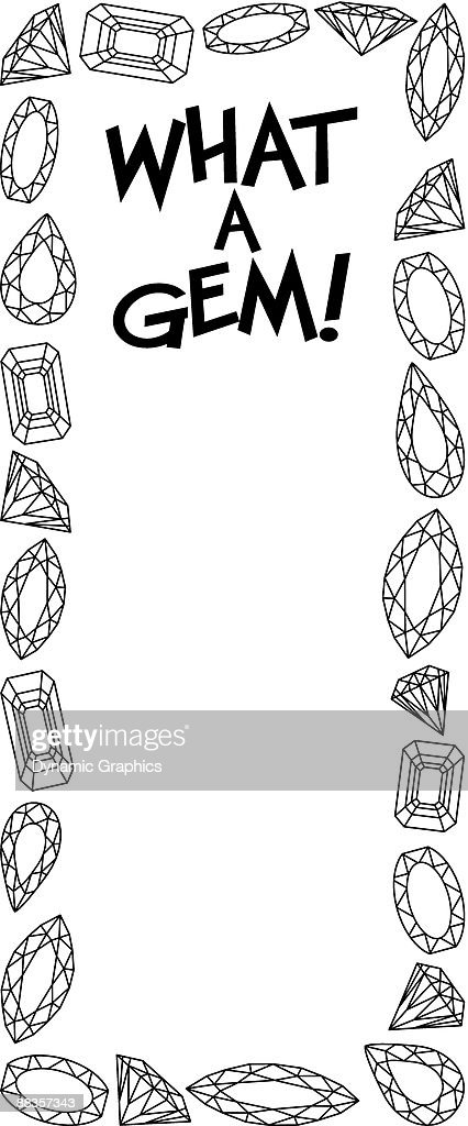 Border Heading What A Gem Jewel Frame Vector Art | Getty Images