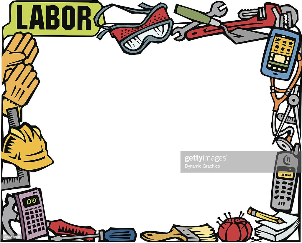 Border Labor Day Montage Labor Color Stock Illustration Getty Images
