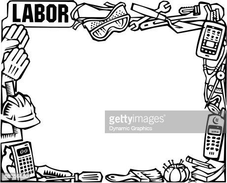 Border Labor Day Montage Labor Stock Illustration Getty Images