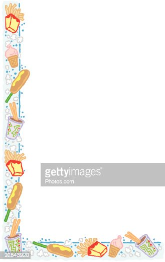 border with junk food theme ベクトルアート getty images