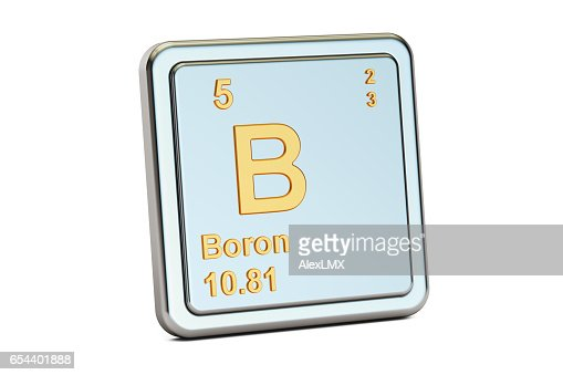 Boron B Chemical Element Sign 3d Rendering Isolated On White
