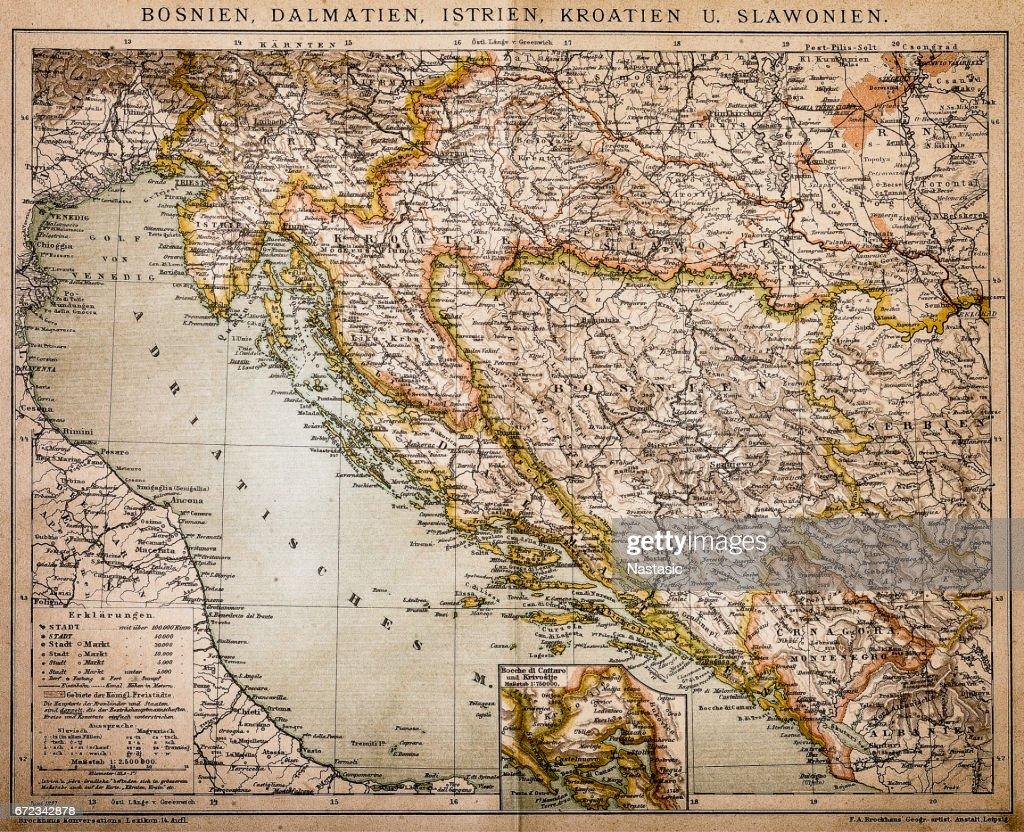 Bosnia, dalmatia, istria, croatia, slavonia : stock illustration