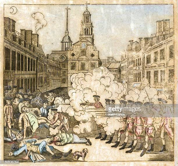 boston massacre, 1770 - boston massacre stock illustrations