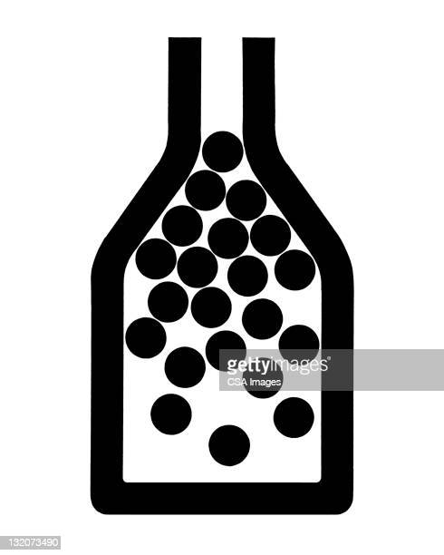bottle of dots - spotted stock illustrations