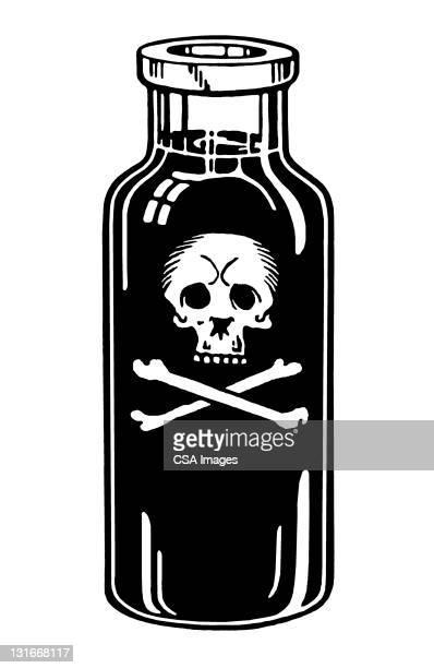bottle of poison - 有害物質点のイラスト素材/クリップアート素材/マンガ素材/アイコン素材