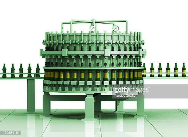 bottling plant - manufacturing equipment stock illustrations