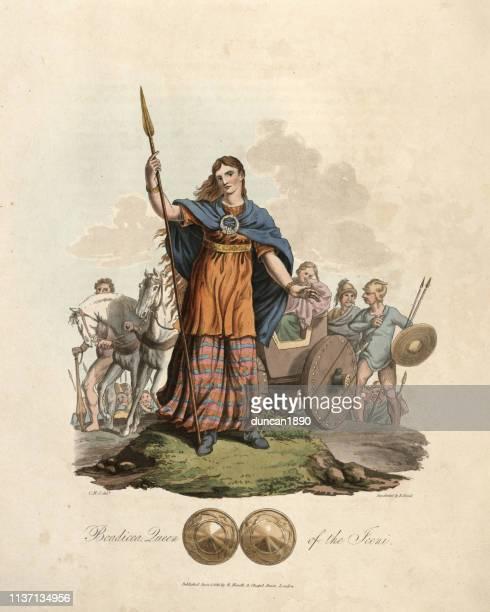 イケニ族の女王、ブーディカ - 女王点のイラスト素材/クリップアート素材/マンガ素材/アイコン素材