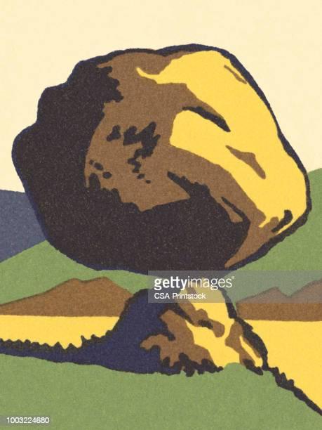ボルダー岩上の分散 - 巨礫点のイラスト素材/クリップアート素材/マンガ素材/アイコン素材