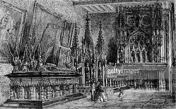 bourgogne dukes tomb in dijon - dijon stock illustrations, clip art, cartoons, & icons