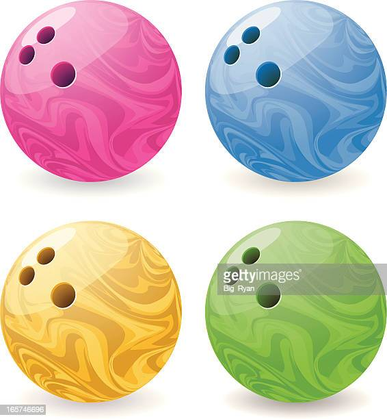 bowling balls - bowling ball stock illustrations, clip art, cartoons, & icons