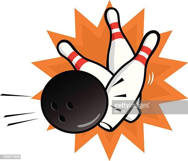 bowling - bowling ball stock illustrations, clip art, cartoons, & icons