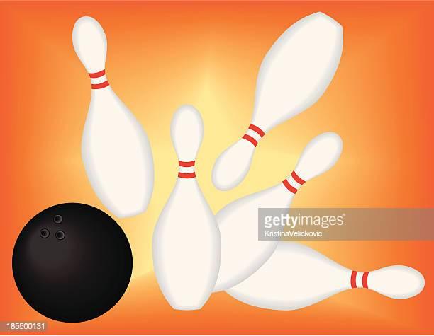 bowling - bowling pin stock illustrations, clip art, cartoons, & icons