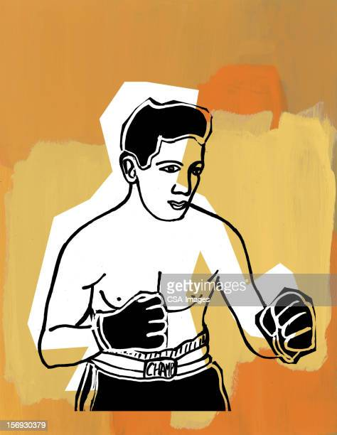 boxer - knockout stock illustrations, clip art, cartoons, & icons