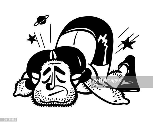 boxer knockout - knockout stock illustrations