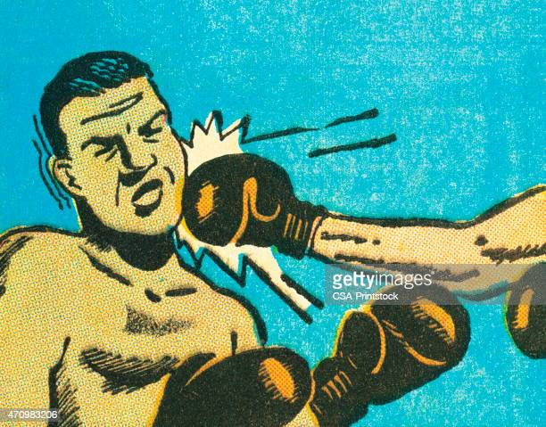 boxing - knockout stock illustrations