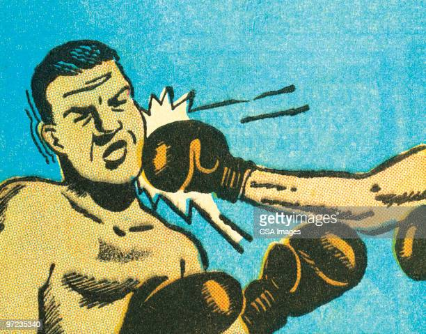 boxing - punching stock illustrations