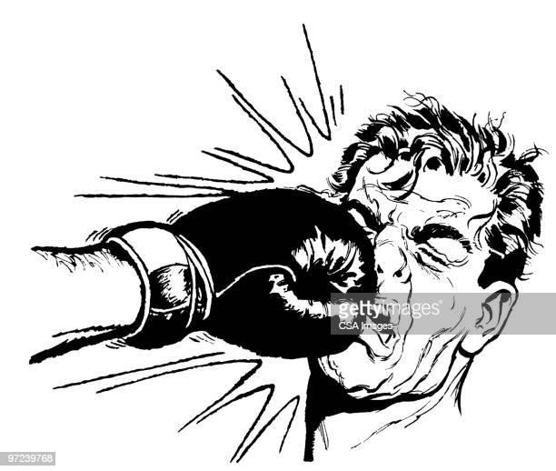 boxing - boxing glove stock illustrations