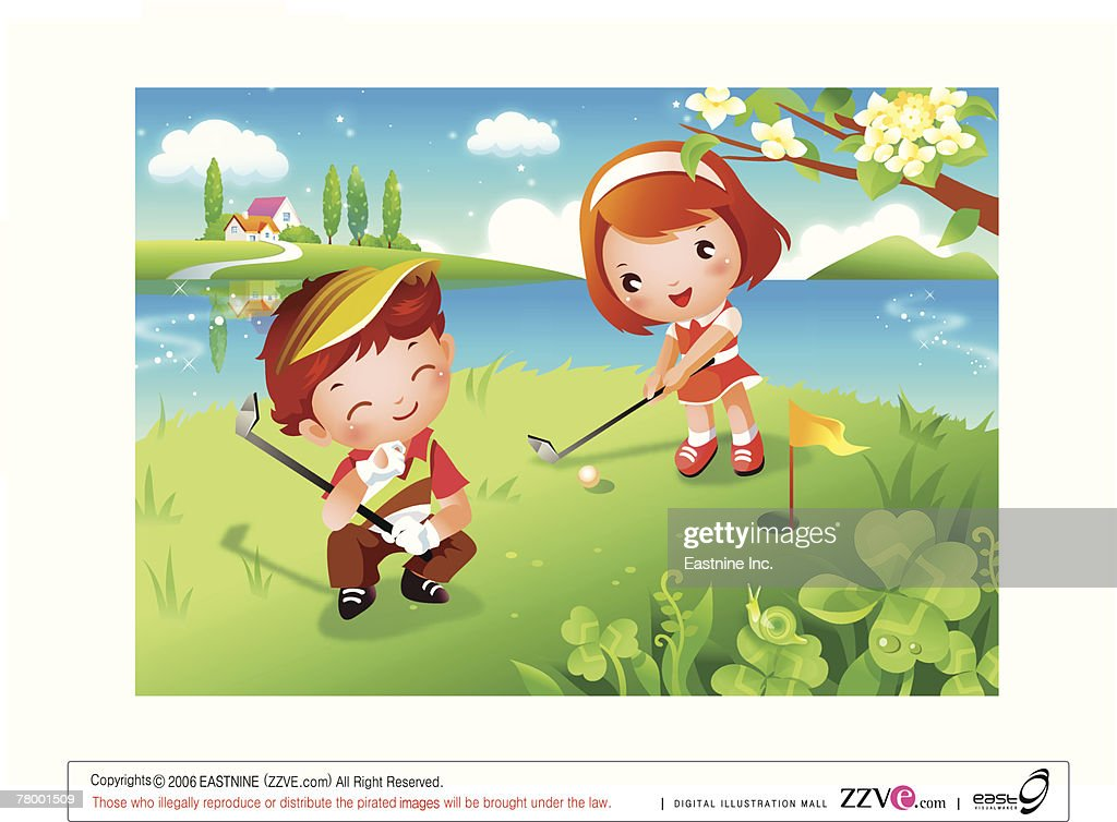 Спасибо, гольф картинки вид спорта для детей