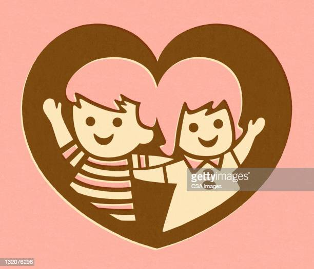 Boy and Girl in Heart