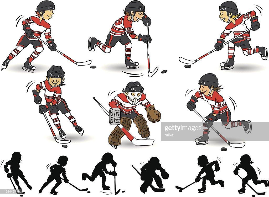 Boy hockey character