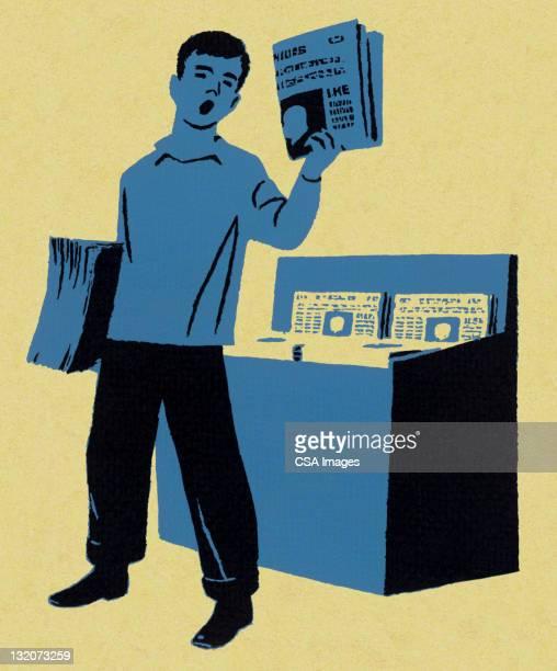 Boy Selling Newspapers