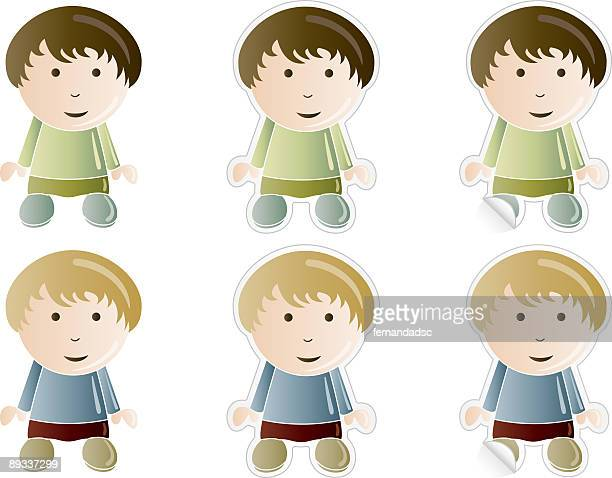 boys icons - 8 9 years stock illustrations, clip art, cartoons, & icons