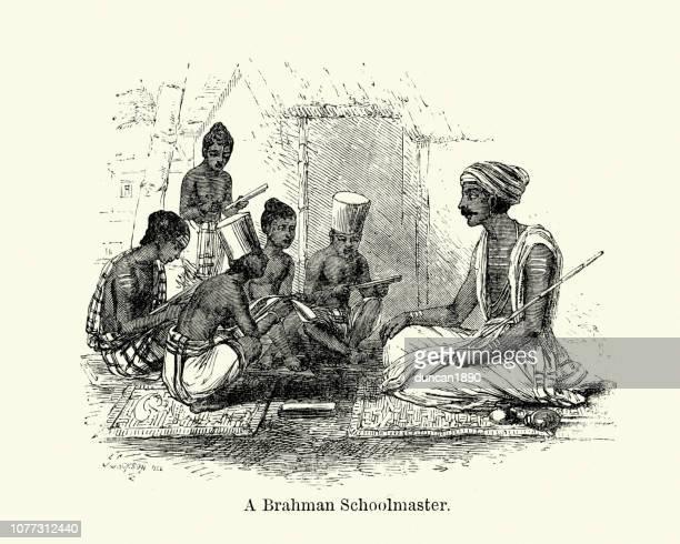 ブラフマンの校長、インド、19 世紀 - カースト点のイラスト素材/クリップアート素材/マンガ素材/アイコン素材