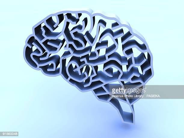 stockillustraties, clipart, cartoons en iconen met brain complexity - ziekte van alzheimer