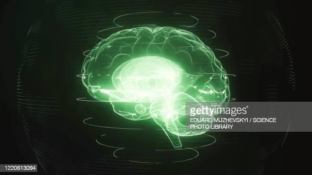 brain scan, conceptual illustration - deep learning stock illustrations