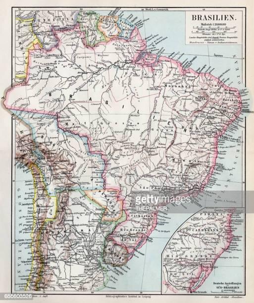 Brazil map 1895