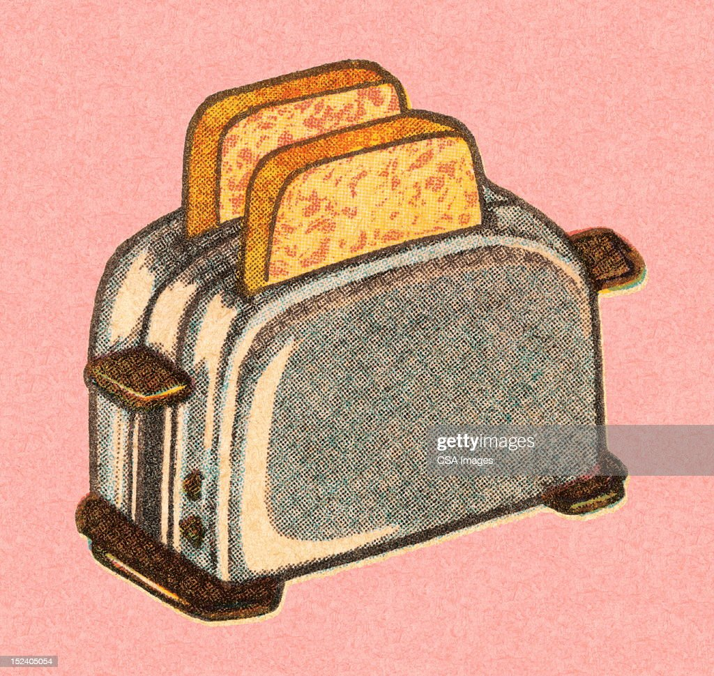 Bread in Toaster : stock illustration