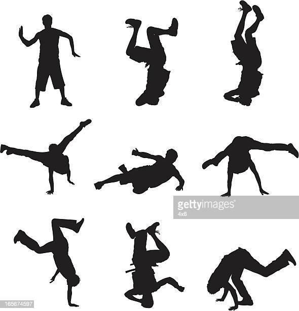 Breakdancers in action
