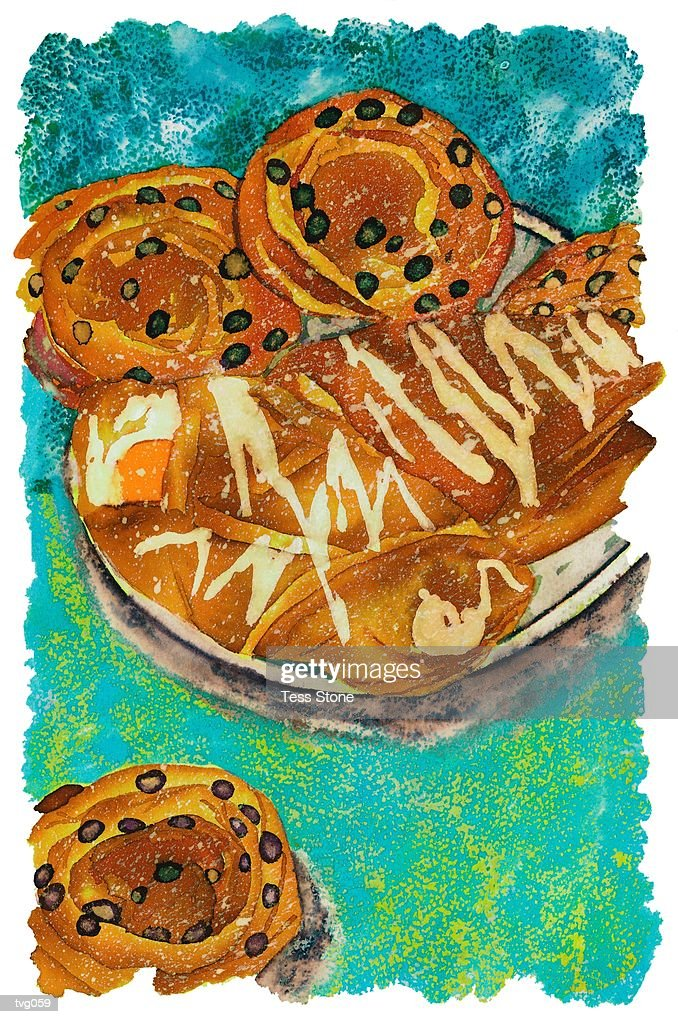 Breakfast Pastries : Stockillustraties
