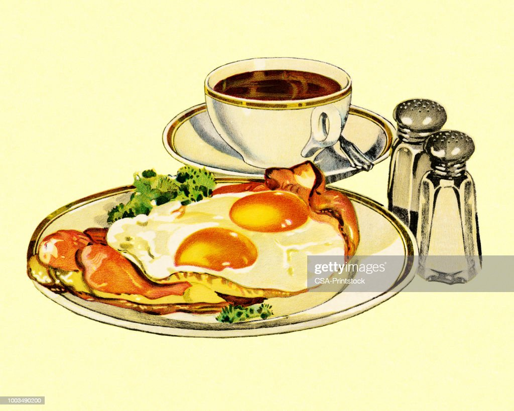 Breakfast Plate And Coffee High Res Vector Graphic Getty Images
