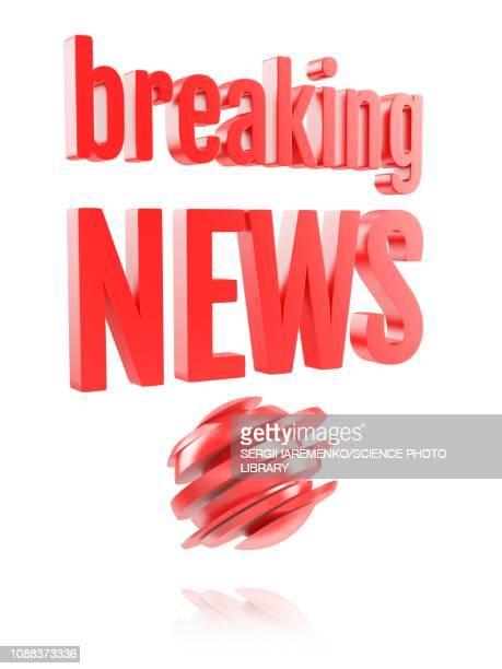 stockillustraties, clipart, cartoons en iconen met breaking news logo, illustration - de media